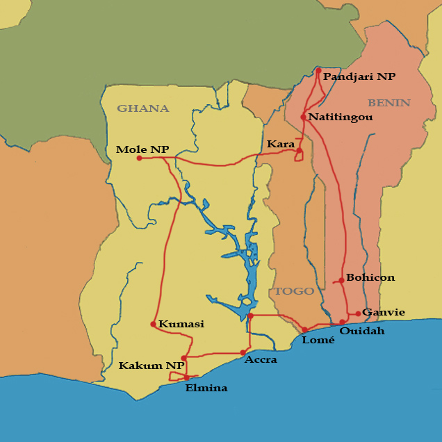 Want expeditions home ghana togo benin trip map gumiabroncs Image collections