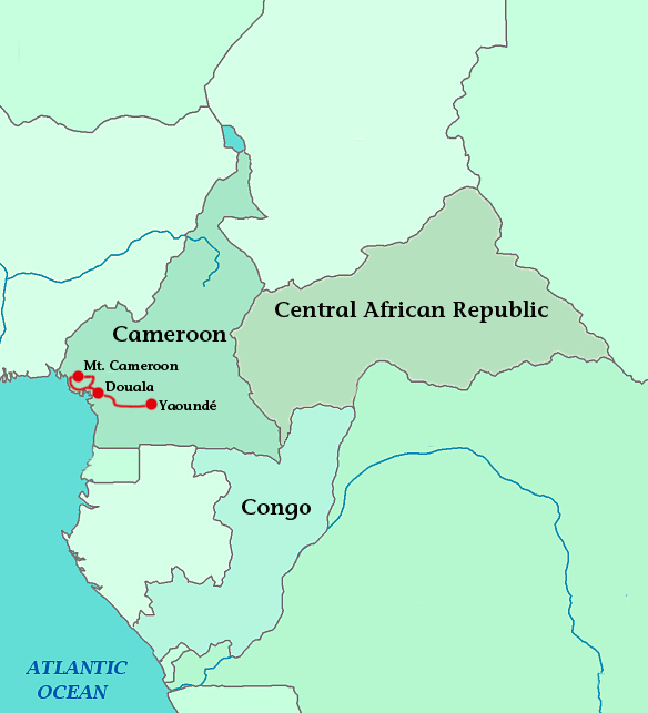 mt cameroon africa map